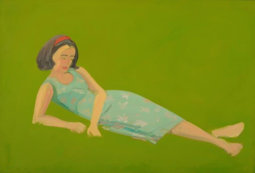 Alex Katz, Ada in the Grass, 1963. Oil on linen. 31 x 45 1/2 inches. MD-00051.